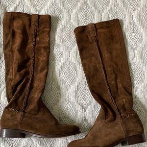 Gorgeous Dark Brown Suede Frye Boots Knee High 6.5
